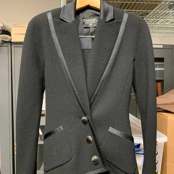 CHANEL Jackets & Blazers - Vintage Chanel Boutique suit, likely custom made